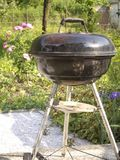 Grill. Barbacue in private garden in summer Stock Photos