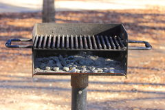 Grill. Fire pit at a park used for BBQ Royalty Free Stock Photos