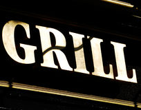 Grill. Sign for urban texture background Royalty Free Stock Photo