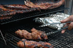 On The Grill. This is a photo of a BBQ royalty free stock image