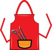 Grill Apron Royalty Free Stock Images