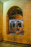 Grill and arch of inner courtyard Stock Photos