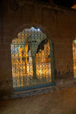 Grill and arch of inner courtyard. Makam Ibraham Camii (Abraham's hiding place) in Sanliurfa,  Turkey Stock Photos