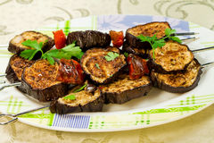 Grill aubergines Royalty Free Stock Image