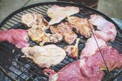 Grill auf dem Grill Stockfoto