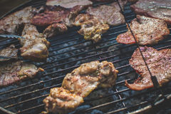 Grill auf dem Grill Stockfotos