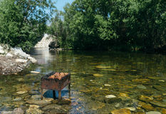 Grill auf dem Wasser Lizenzfreie Stockfotografie