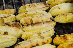 Grill banana Stock Photos