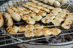 Grill banana Stock Images