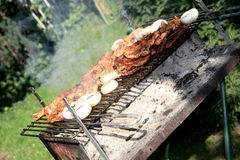 Grill and barbecue Royalty Free Stock Photography