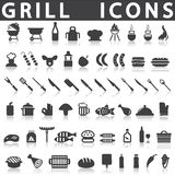 Grill Or Barbecue Icons Royalty Free Stock Image