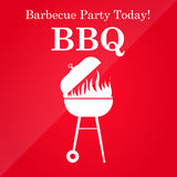 Grill or barbeque vector template. Royalty Free Stock Images