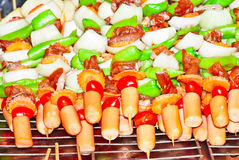 Grill bbq sausages Royalty Free Stock Photography