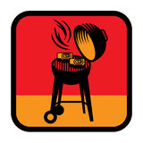 Grill or BBQ symbol or sign Royalty Free Stock Images