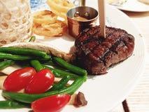 Grill beaf lapje vlees stock foto