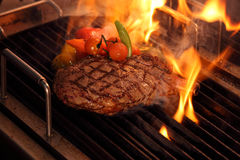 Grill Beef. A pieces of grilling beef steak Royalty Free Stock Photography