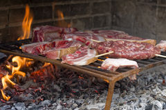 Grill Beef Steak Barbeque Royalty Free Stock Photography