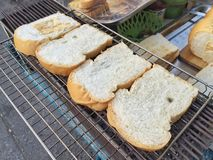 Grill bread Stock Images