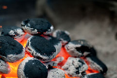 Grill briquettes Royalty Free Stock Photos