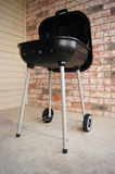 Grill. Charcoal grill with the cover open Royalty Free Stock Images