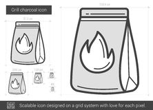Grill charcoal line icon. Royalty Free Stock Photo