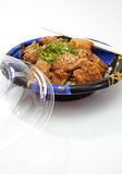 Grill chicken with steamed rice, japanese food Stock Images