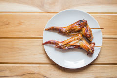 Grill chicken wings Stock Images