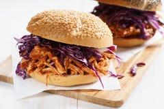 Grill Ciągnąca kurczak kanapka Obraz Royalty Free