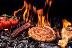 Grill concept with flare on background Stock Photo