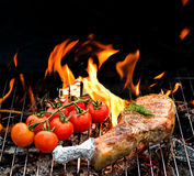 Grill concept with tomatoes Royalty Free Stock Photo