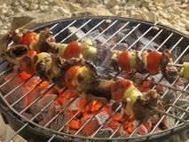 Grill cooking Stock Photography
