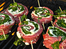 Grill Cooking Royalty Free Stock Photography