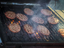 Grill. Cooking meat over an open fire Stock Photography