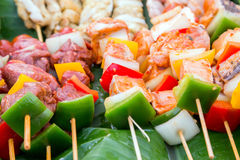 Grill cooking vegetable. Royalty Free Stock Photography