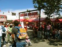 Grill de BBQ de Chuck Wagon, le comté de Los Angeles juste, la Californie, Etats-Unis Images stock