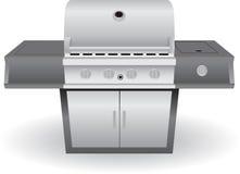 Grill des Edelstahl-Grill-(BBQ) Stockbild