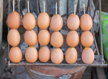 Grill eggs at market, Street food at thailand Stock Photography