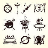 Grill elements set. Vector. Illustration Stock Images