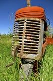 Grill en krukas van een oude tractor royalty-vrije stock afbeelding
