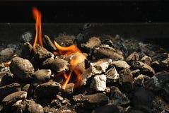 Grill-Feuer Stockfotos