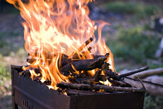 Grill Fire Royalty Free Stock Images