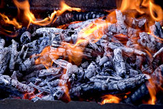 Grill Fire Stock Photos