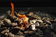 Grill fire. The grill fire abstract background Stock Photos