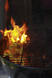Grill on fire Royalty Free Stock Photos