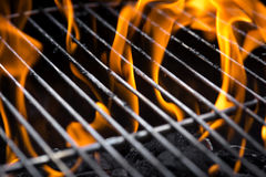 Grill fire Royalty Free Stock Image