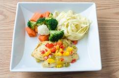Grill-Fischfilet-Steak Lizenzfreies Stockfoto