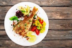 Grill fish Stock Photos