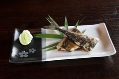 Grill fish , japanese food saba fish grill Stock Photography