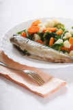 Grill Fish with Vegetables Royalty Free Stock Photography