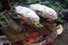Grill fishes Royalty Free Stock Photos